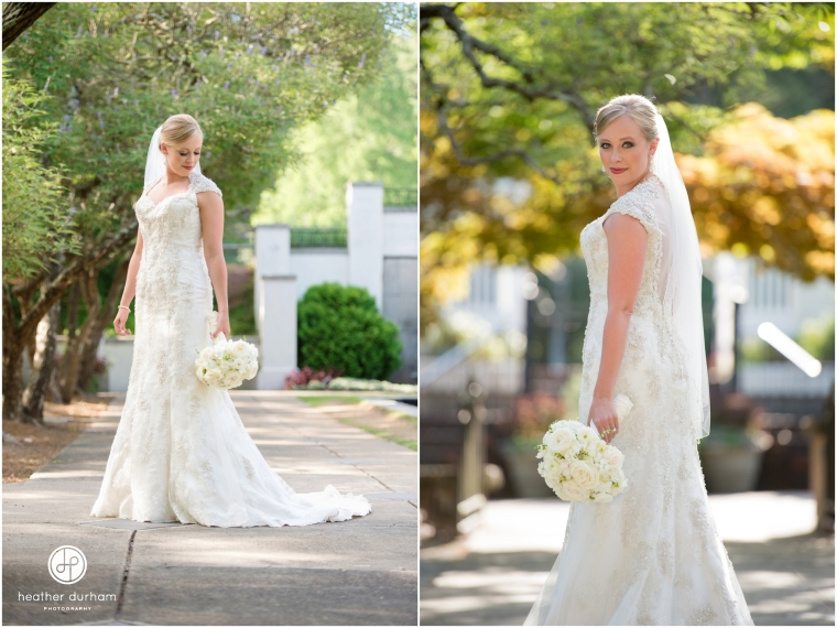 Caroline's Bridal Session at Birmingham Botanical Gardens