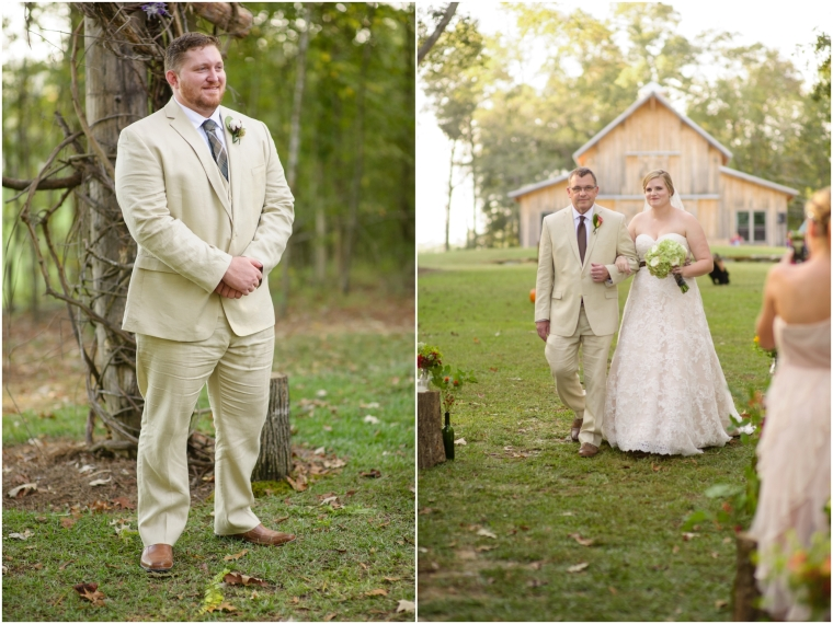 Leah & Daniels Fall Outdoor Wedding at Walter's Farm, Pell City Alabama