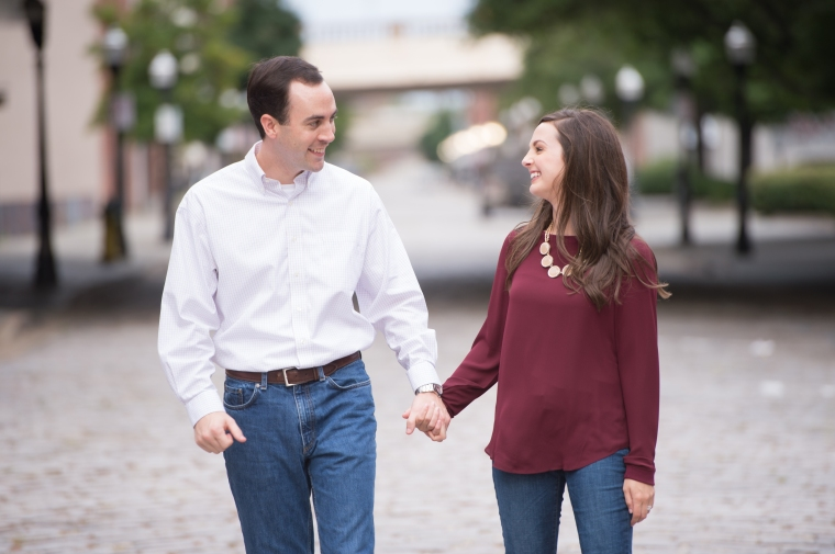 Lindsey & Grant's Urban Birmingham Engagement Session