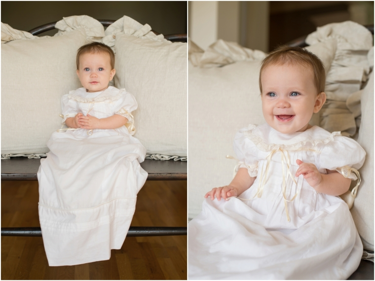 Baby Christening Gown and Diaper Cover Portraits