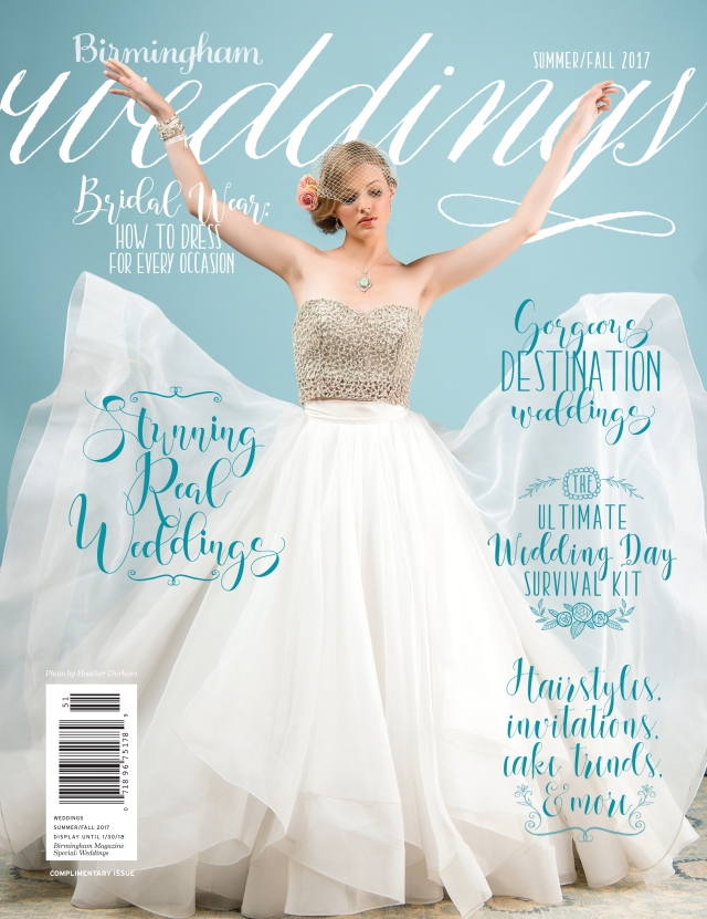 Birmingham Magazine Summer/Fall 2017 Weddings Cover