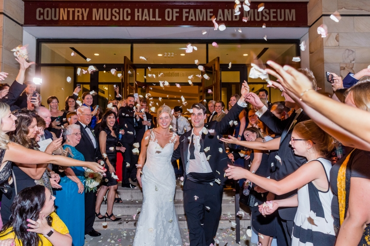 LIz and Thomas' Country Music Hall of Fame Wedding, Nashville TN by Heather Durham Photography