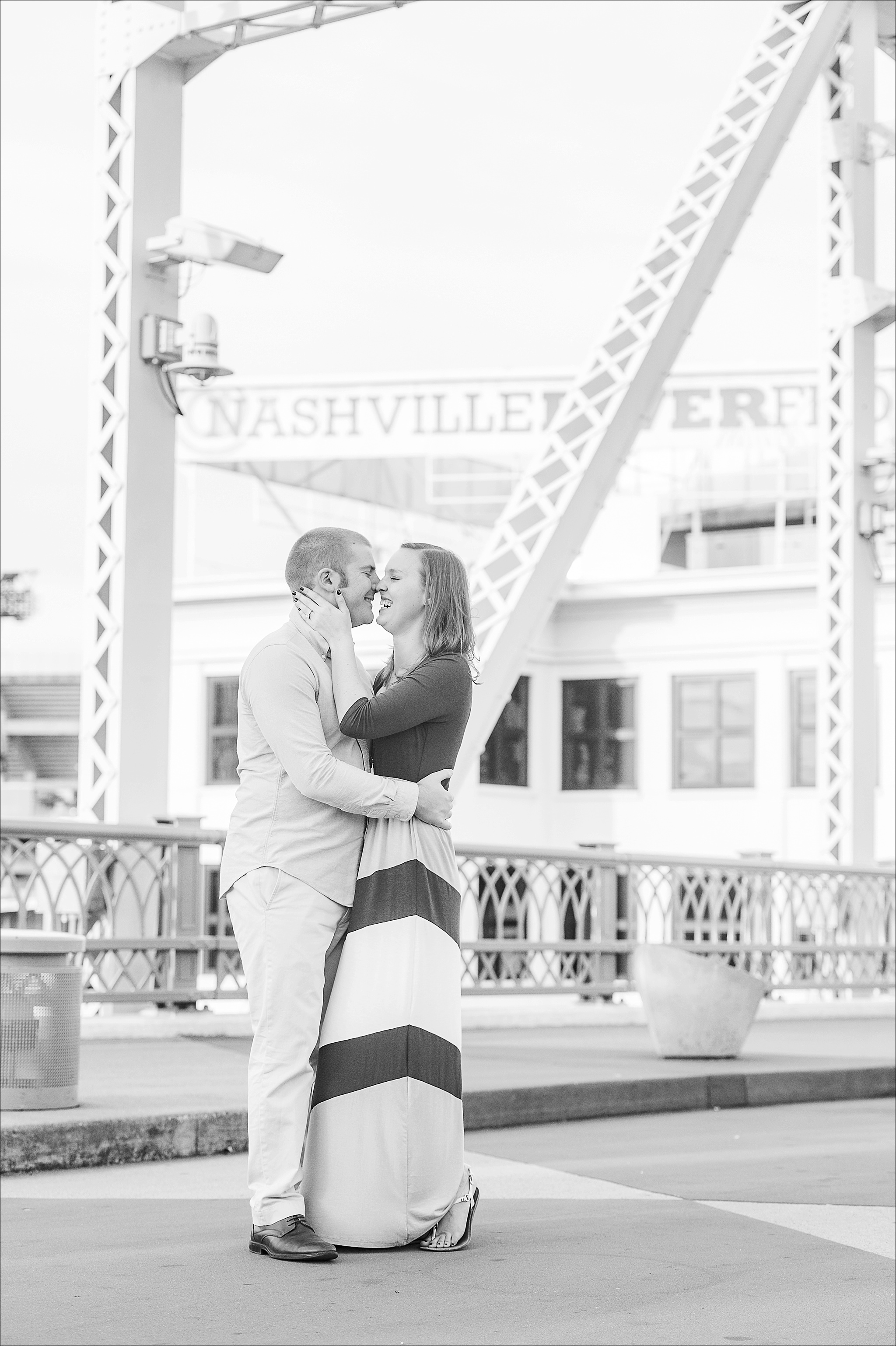 Rachel & Alex's Downtown Nashville Engagement Session by Heather Durham Photography